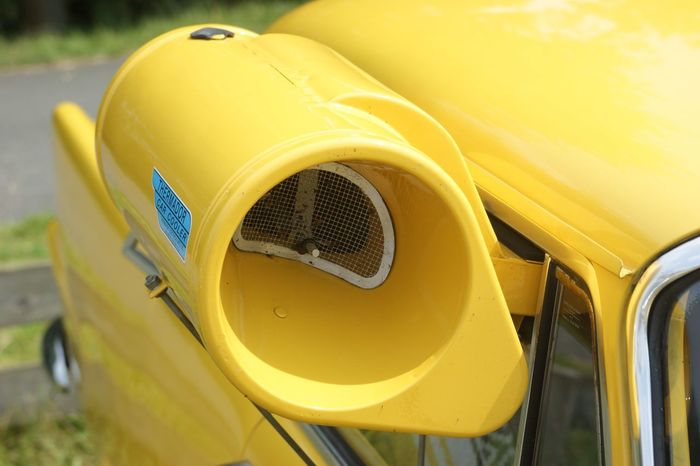 EyeEm Selects Yellow Transportation Outdoors Day No People Close-up Land Vehicle Car Airconditioning