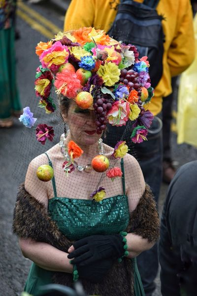 Jack In The Green Festival Jack In The Green May Day 2017 Hastings May Day East Sussex Tradition Only Women One Person One Woman Only Real People Multi Colored Fruit Pagan Festival Plant Smiling Close-up Leaf Headwear Celebration Live For The Story Traditional Clothing Carnival - Celebration Event Community Freshness