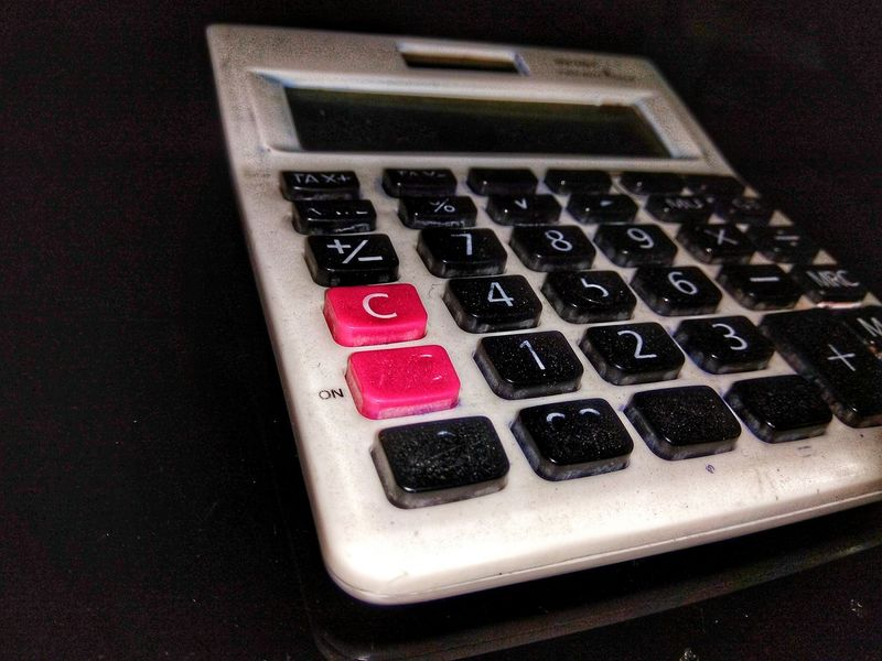 Calculators Calculator Calculator Machine White