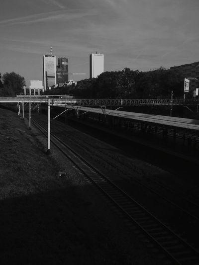 Warsaw, Poland. Railroad Track Rail Transportation Railroad Station Outdoors Day Sky City EyeEm Best Shots EyeEm Best Edits VSCO Sunlight Architecture Street Photography Cityscape