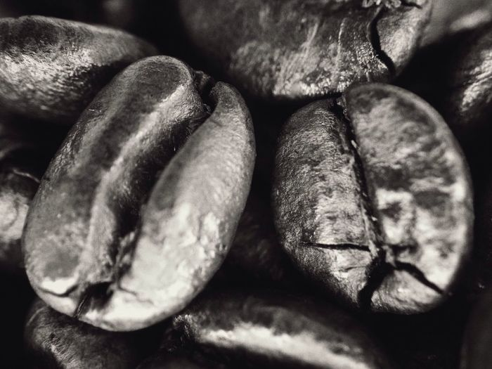 Coffe bean Coffee #bean #grain #iphonephoto Iphonephotography #olloclip Macro #10xmacro #olloclip4in1 #vscocam Black And White