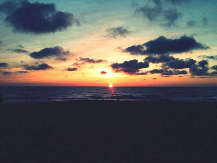 Sunset Evening Sky Beach Enjoying Life
