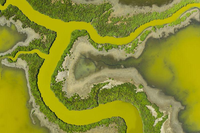 Full frame shot of yellow river