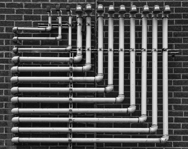 Pipes On Building Wall
