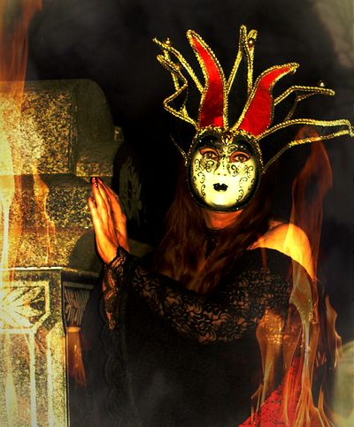 The Beautiful Joker Photo Collection On Fire Mask The Beautiful Joker Photo Collection - In Her Own Hell