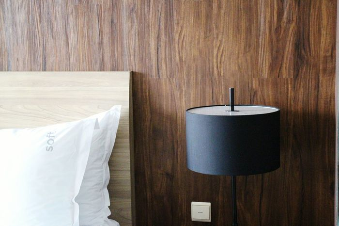 Interior Views Interior Desk Lamp Lamp Pillow Headboard Wood Lamp Design Wooden Wooden Texture Texture Wood Texture Wood Material Showcase March My Favorite Photo