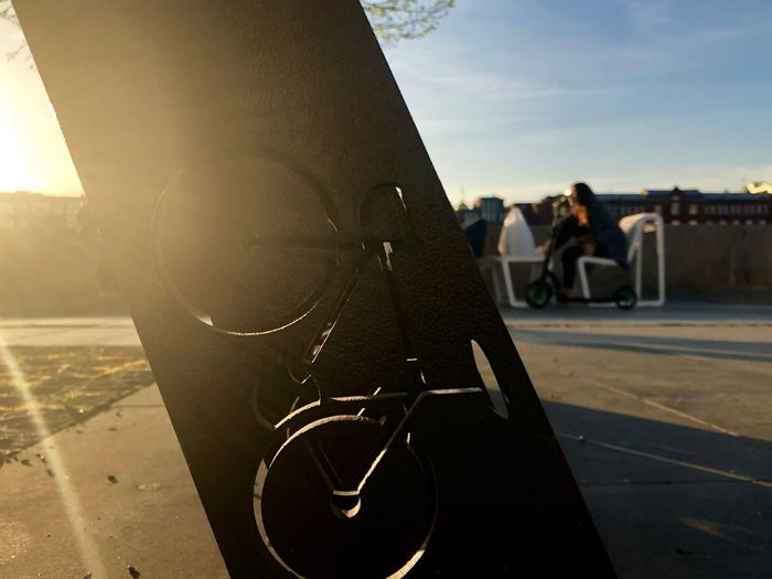 City Life Moscow Muzeon Parking Lot Summertime Bike Bycicle City Close-up Cycling Focus On Foreground Incidental People Lens Flare Metal Moscow Life Muzeonpark Outdoors Park People Real People Sunlight Sunset Unrecognizable Person The Architect - 2018 EyeEm Awards The Street Photographer - 2018 EyeEm Awards The Creative - 2018 EyeEm Awards Creative Space #urbanana: The Urban Playground Summer In The City Capture Tomorrow