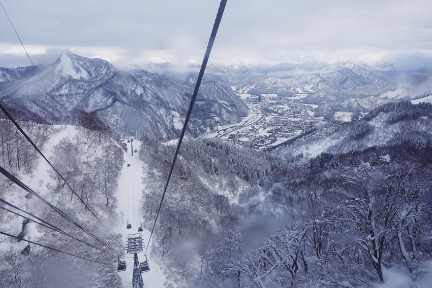 View from the top Winter Snow ❄ Cable Car Galayuzawa Japan