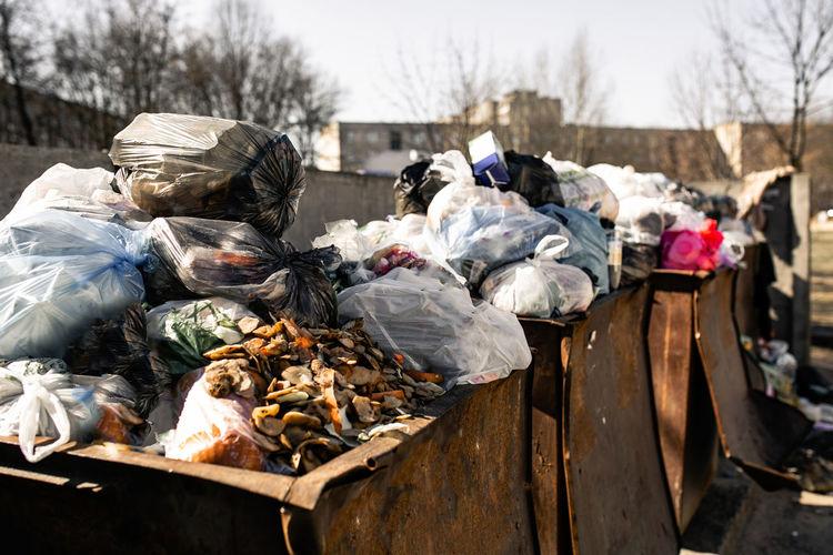 Heap of garbage outdoors