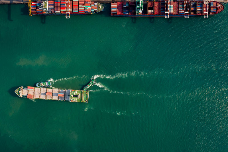 Container cargo ship business commercial trade import export logistic transportation container