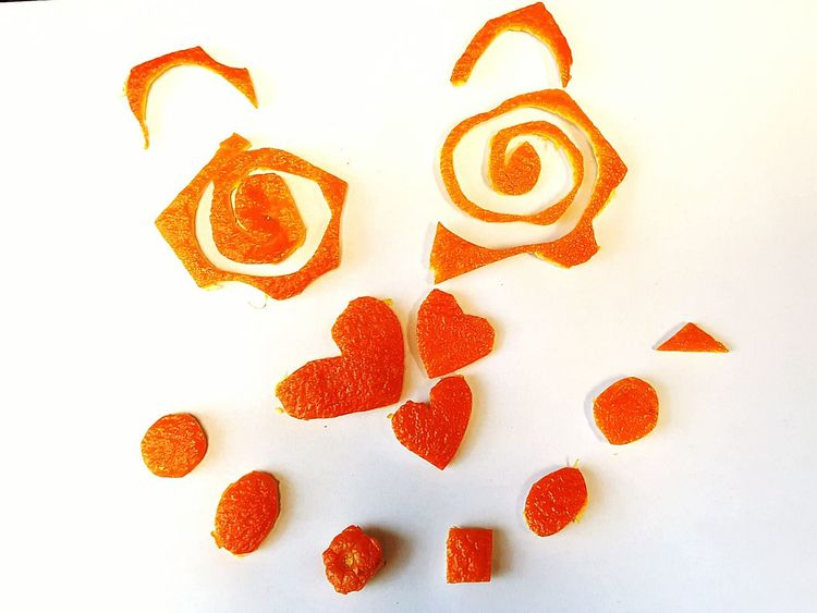 Happy Wednesday!! Fruitart Orange Peel Orange Color Orange Smiley Face Indoors  No People Heart Circles Love Squares Triangle Spiral EyeEmNewHere Fresh Humpday Citrus  Love Yourself