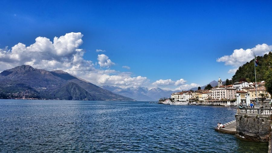 Bellagio by lake como with mountains against sky