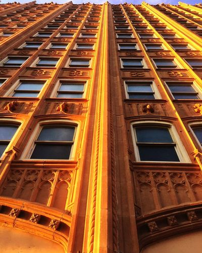 Perspective Architectural Detail Petroleum Building Sunlit 43 Golden Moments Color Palette Urban Exploration The City Light Minimalist Architecture