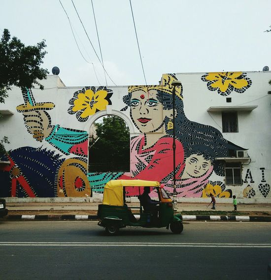 Lady Aiko's rendition of rani lakshmibai from Delhi's street art district lodhi colony Lodhicolony Streets Of Delhi Streetphotography Street Art Art Mural India Mural Art Delhi From My Point Of View DelhiGram Delhidiaries EyeEm EyeEm Best Shots Autorickshaw Colors Colorful Daily Life Indian History Lady Power Girl Power Empty Streets Playing Children Children Playing