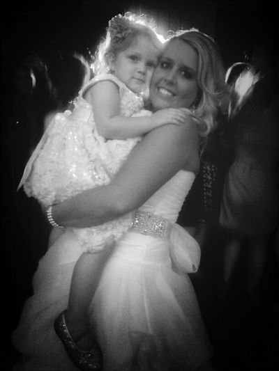 The Gorgeous Bride With Thee Cutest Little Girl Ever!