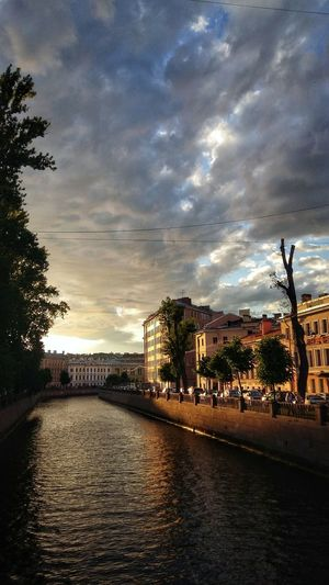 summertime Trees Tranquility Tranquil Scene Saint Petersburg Summer Dusk Griboedov Channel Harlamov Bridge Cloud - Sky Sky Water Architecture Tree Nature Sunset Plant City Built Structure No People Building Exterior Outdoors Beauty In Nature Reflection Scenics - Nature