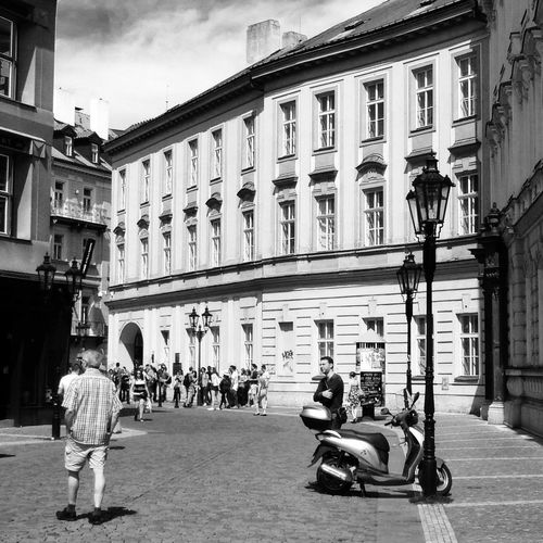 In the streets of Prague Blackandwhite Streetphoto_bw Czech Republic Mobilephotography