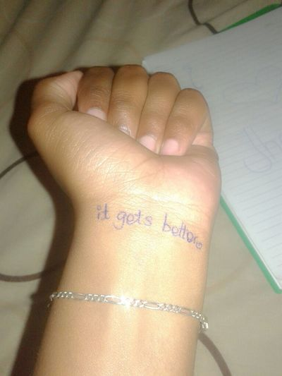 Smile because it always gets better.. Pen Ink*