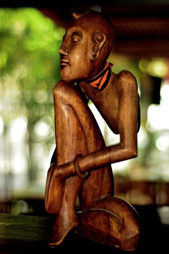 'Dayak' Sculpture of Kalimantan-Republic Indonesia. photos at Denpasar-Bali Island