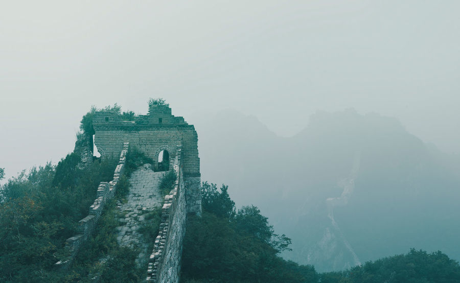 Foggy View Great Wall of China Architecture Beijing Beijing Scenes China Beauty China View China Photos Great Wall Great Wall Of China Beauty In Nature China East Asia Foggy Great Great Wall Of China Tower History Landmark Landscape Misty Landscape Mountain Nature No People Oriental Outdoors Scenics Summer
