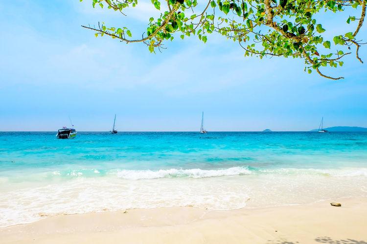Sea beach white