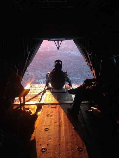 Aircrew CH53E Flight Sunset Tailgunner USMC