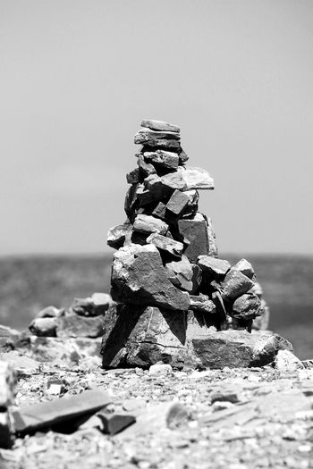 Cairn Cairn Pyramide Stack Stone - Object Rock - Object Non-urban Scene Stone Buildings Textured  Abstract Nature Abstract Close-up Nature Nature_collection Nature On Your Doorstep Black And White Photography Stones N Rocks Stones Composition Rocks And Sky Balance Balancing Balancing Rocks Light And Shadows Art Is Everywhere