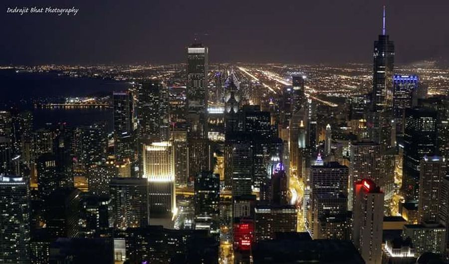 City Nightscape Chicago Downtown Chicago Chicago Skyline Chicago's Skyline Cityscapes Cityscape Nightscape