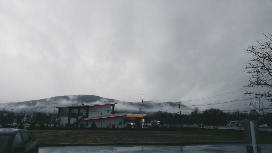 Upstateny Upstate Upstate New York Diner Mountain Fog Neon Fishkill Clouds Red