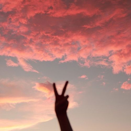 Peace, freedom of disquieting or oppressive thoughts or emotions. Peaceyooow