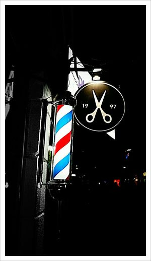 Barber's Night Building Exterior Street City