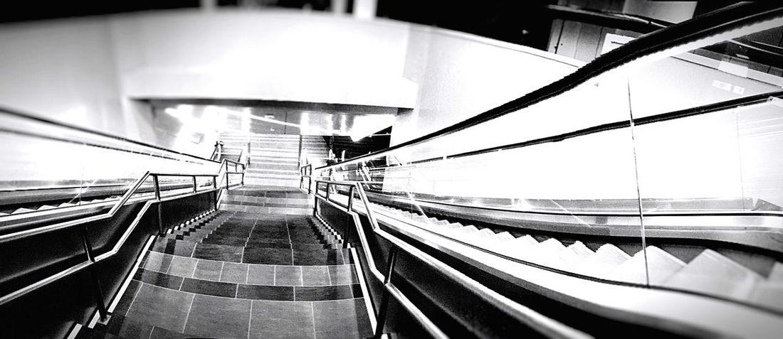 Metro Stairs Holidays Metro Station Rome Tube Blackandwhite Black And White Blackandwhite Photography Black And White Photography Blackandwhitephotography Black & White Black&white Light Nopeople Alone Black And White Collection  Escalators The City Light