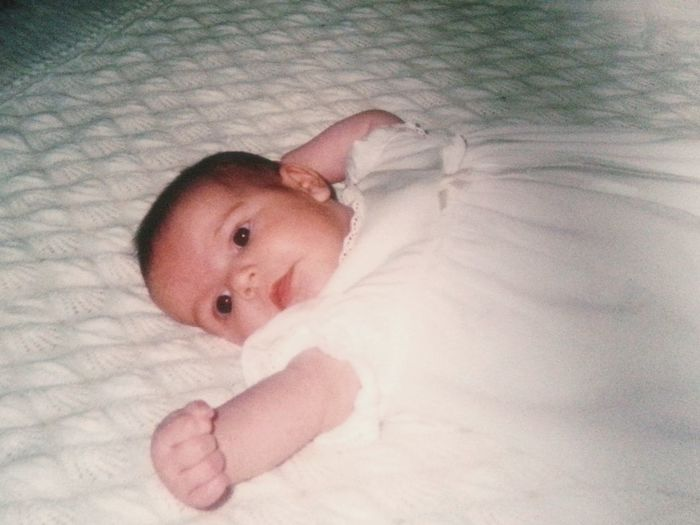 """My youngest Daughter will """"officially"""" be 18 years old at noon today... Remembering This Moment with a Photo Of A Photo of her, in her Christening Gown, Baptism Day! Bonne Fête Je T'aime Appreciate The Little Things In Life Family Matters Everyday Emotion"""