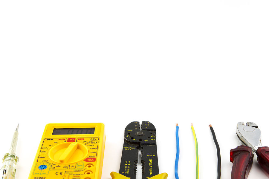 Cable Electric Electrical Electrician  Electricity  Equipment Instrument Isolated Pliers Repairs Tools Work