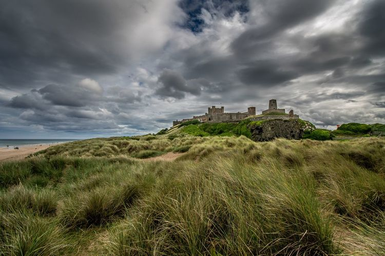 Bamburgh Castle on the coast of Northumberland Northumberland Castle Sea And Sky Sand Countryside Landscape_photography Skyporn Sky And Clouds Nikonphotography Clouds And Sky Eye4photography  Stormy Weather EyeEmBestPics Nature Photography Landscape Landscape_photography