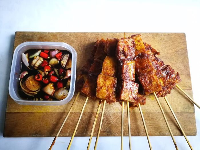 Food Healthy Eating Ready-to-eat Close-up Foodphotography Delucious Tofu Satay Food Stories