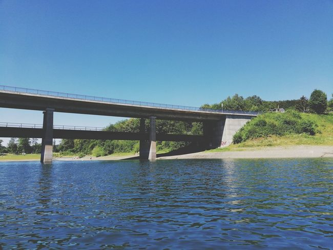 Water Clear Sky Tree Blue Bridge - Man Made Structure Summer Sky Architecture Horizon Over Water Covered Bridge Footbridge Waterfront Seascape Beach Boat Sea Scenics Surf Rushing