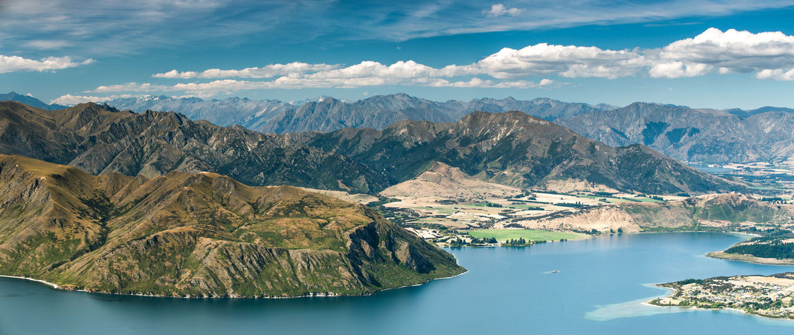 Beauty In Nature Cloud - Sky Day Environment Formation Idyllic Lake Lake View Lake Wanaka Mountain Mountain Range Nature New Zealand No People Non-urban Scene Outdoors Remote Roys Peak Scenics - Nature Sky Summer Tranquil Scene Tranquility Water Waterfront