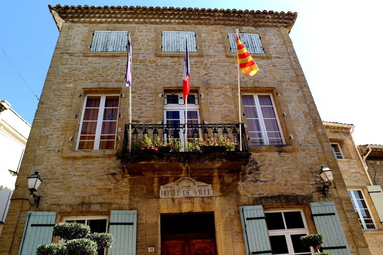 Architecture Chateauneufdupape Clear Clear Sky Colorful Eye4photography  EyeEm Best Shots EyeEm Gallery EyeEmBestPics Façade France From My Point Of View Historic Hôtel De Ville Low Angle View No People Old Buildings Old House Provence Tall - High The Week On EyeEm Window