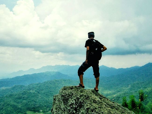 Adventure Mountain Sport Full Length Cloud - Sky One Person Hiking People Mountain Peak Leisure Activity Outdoors Challenge Sky Nature My Photography Mountains And Sky Mountain View Hiking Trail Hikingadventures Mountain Path EyeEmNewHere