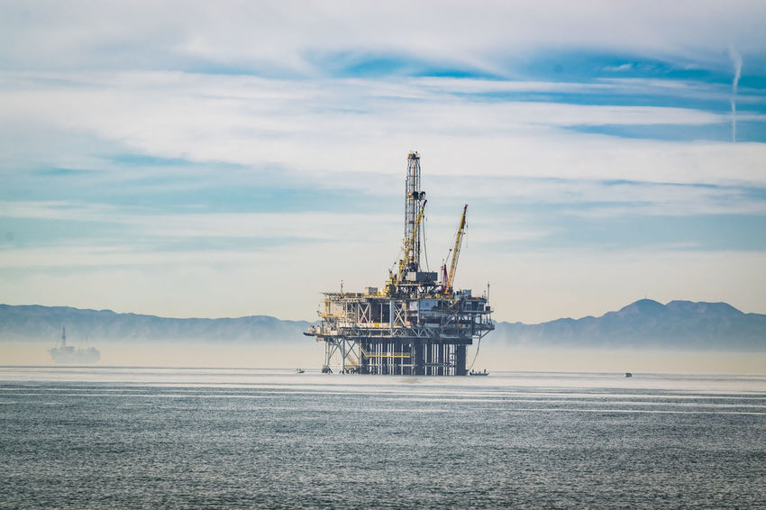 oil drilling off the coast of huntington beach california Day Drilling Rig Fuel And Power Generation Gasoline Industry Nature No People Offshore Platform Oil Drilling Oil Industry Oil Pump Outdoors Petrochemical Plant Sea Sky Technology