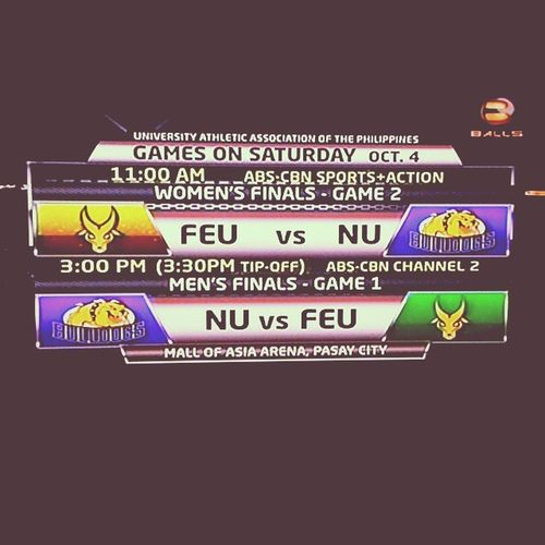 UAAP Basketball event is dominated by Sampaloc universities this Season 77. Feu Nu FEUvsNU Bebrave  ProudTamaraw
