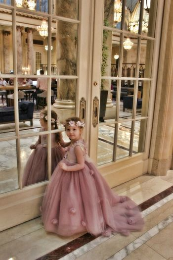 Formal Gown downtown in San Francisco Bride Day Formal Gown, Toddler, Wedding, People, Red Carpet Full Length Girl, Flowers, Preteen, Flower Girl, Marble, City Hall Indoors  One Person Real People
