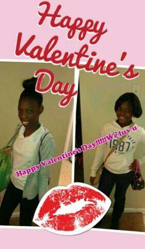 Kids Morning Love Valentine's Day  Happy Mom My Girls Love Me