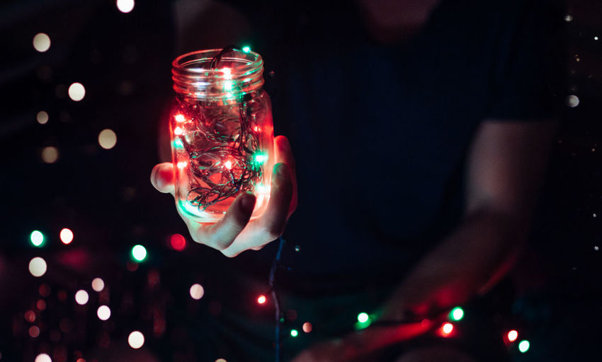 Illuminated Illuminated Night Multi Colored Close-up Celebration Tradition Christmas Lights Red No People Vibrant Color Colorful Music Brings Us Together My Favorite Place Light Blue Dark Lens Flare Music Tail Light Technology Recessed Light Reflection Creativity Jar