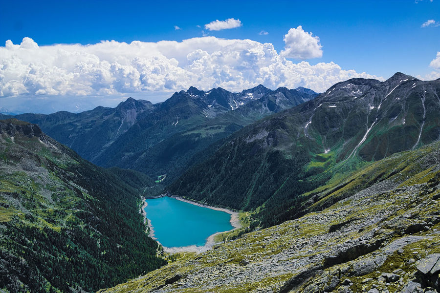 Alps Beauty In Nature Blue Cloud - Sky Day Italy Lago Di Neves Lake Lappago Majestic Mountain Mountain Range Nature Outdoors Scenics South Tyrol Val Pusteria