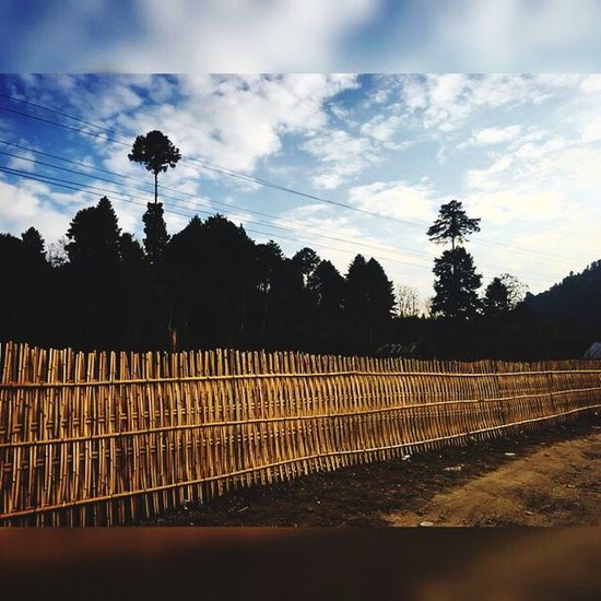 Essence . Fence Cloud - Sky Tranquility Apatani ZiroMusicFest ArunachalPradesh First Eyeem Photo