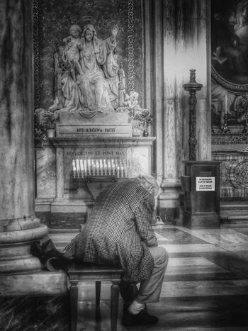 Basilica di Santa Maria Maggiore / Roma Indoors  One Person Place Of Worship Moving Around Rome