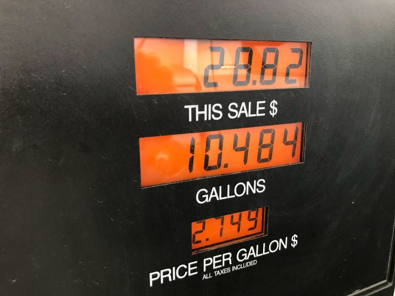 Gas pricing Gasoline Price Taxes California Gasstation Day Text Communication No People Close-up Red Indoors