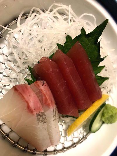 Fresh Fish Salmon Sashimi Tuna Dinner Japan Raw Fish Fish Sashimi Dinner Sushi Food And Drink Indoors  Ready-to-eat Food Still Life Freshness Plate Serving Size Homemade Healthy Eating Close-up